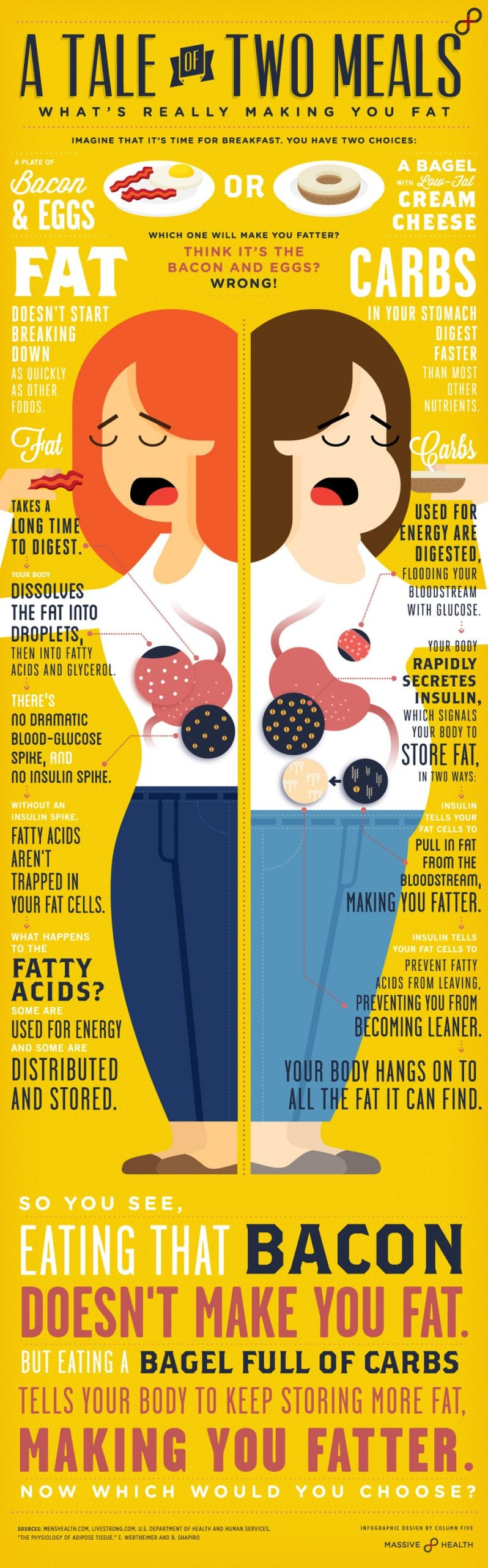 Infographic: A Tale of Two Meals | Which One Will Make You Fatter?