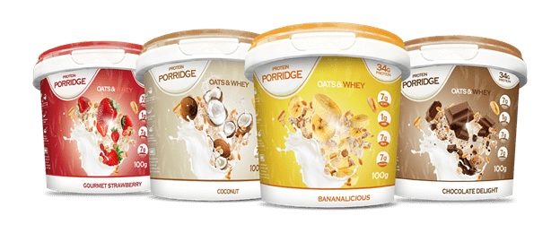 TEAM WILD Favourites | Feel Free Nutrition Protein Porridge 8 x 100g Pot -8 Servings