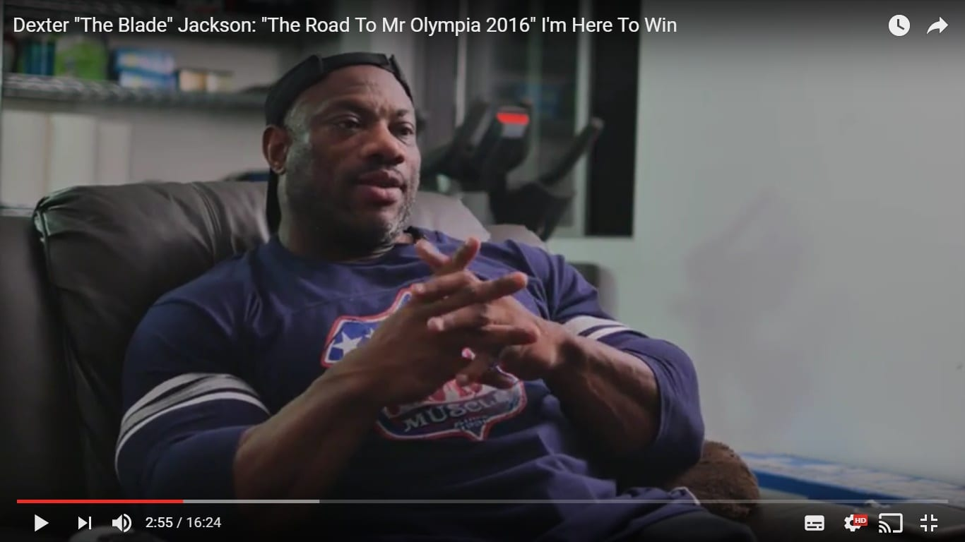 "Dexter Jackson – The Road To Mr Olympia – ""I'm Here To Win"" – Mr Olympia 2016!"