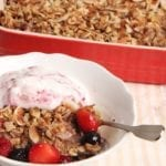 Baked Coconut Berry Oatmeal